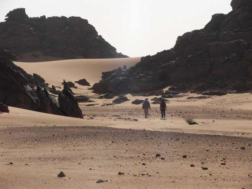 Hiking Desert Expedition Walk Wanderer