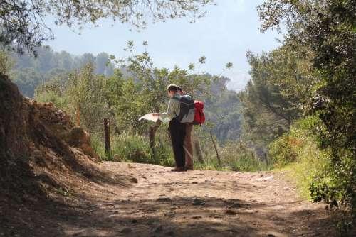 Hiking Decision Landscape Navigation Pathing