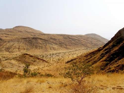 Hill Hilly Hills Dry Bare Barren Stark Stony
