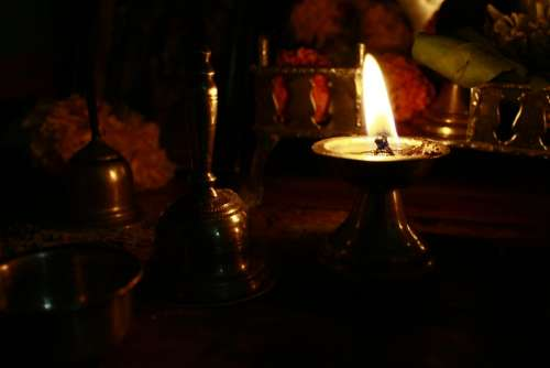 Hinduism Lamp Ceremony Oil Lamp Indian