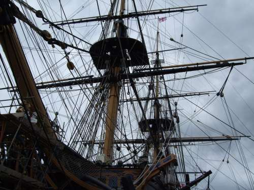 Hms Victory Lord Nelson Ship Portsmouth England