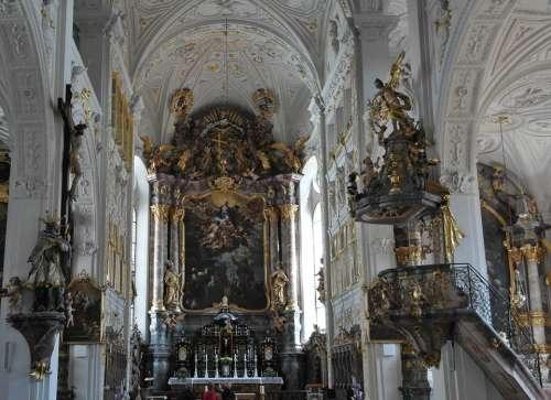 Hofkirche Residenzschloss Main Castle A D Donau