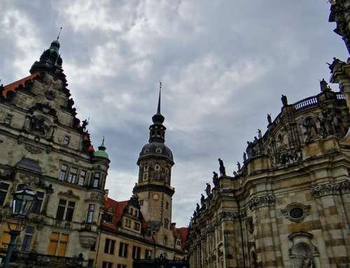 Hofkirche Dresden Historic Old Town Steeple