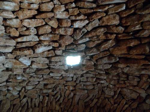 Hole Window Wall Natural Stone Stone Building