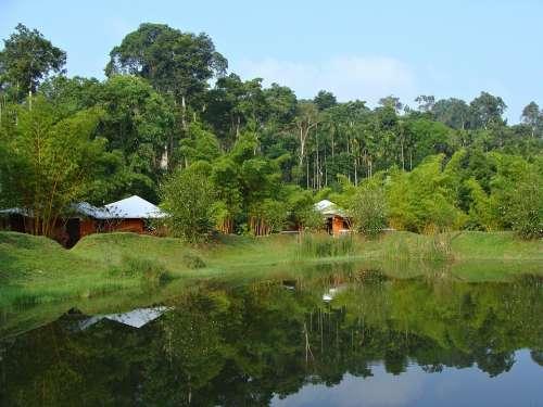 Holiday Home Resort Greenery Pond Reflection