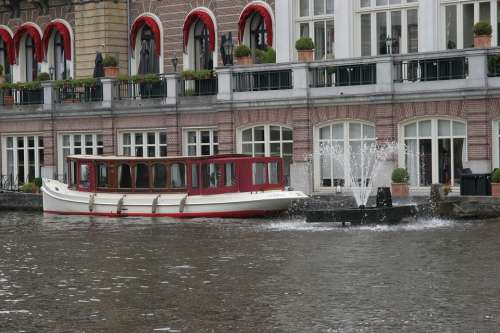 Holland Netherlands Amsterdam City Channel Water