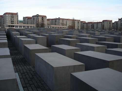 Holocaust Memorial Berlin Concrete Landmark