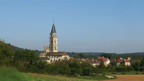 Holy Father Church Monument Village Burgundy