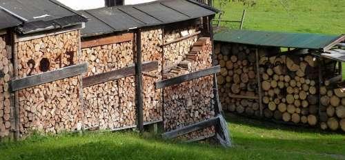 Holzstapel Firewood Storage Wood