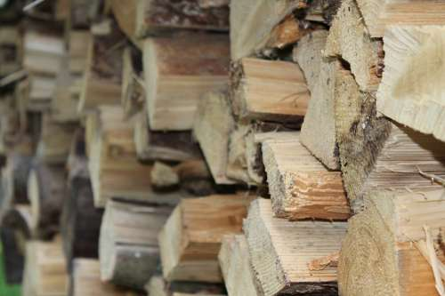 Holzstapel Wood Firewood Growing Stock