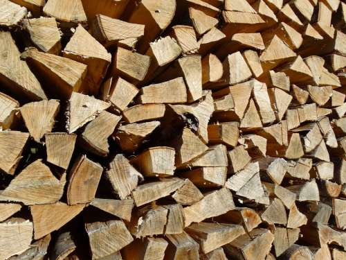 Holzstapel Firewood Growing Stock Stacked Up