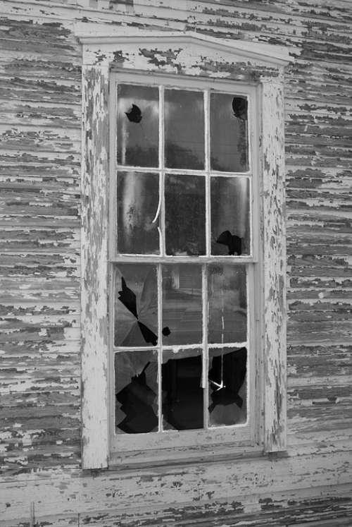 Home House Window Vintage Abandoned House