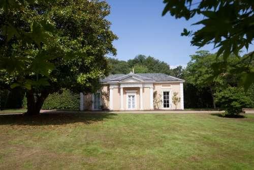 House Summer House Park Trees Meadow Sky Rest