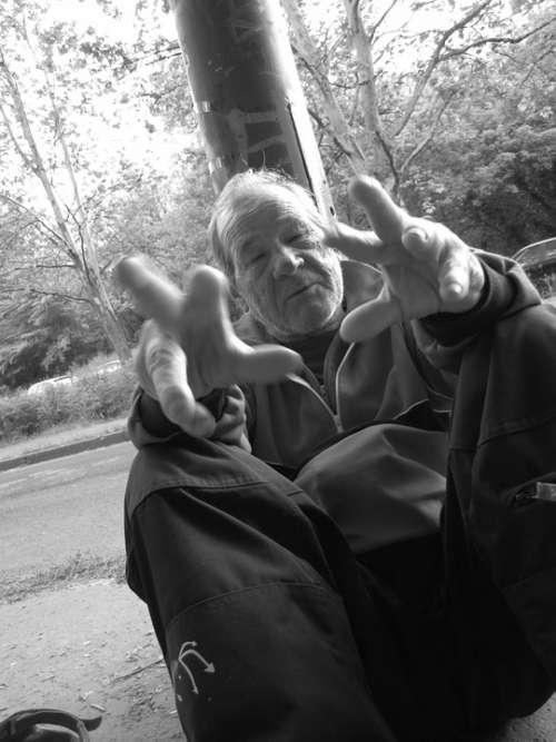 Homeless Comment On Sitting Kéreget Beggar