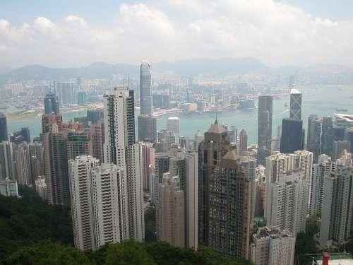 Hong Kong City Big City Skyscraper China