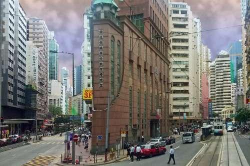 Hong Kong City Skyscraper