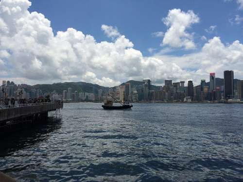 Hong Kong Victoria Harbour Sailboat Sea View