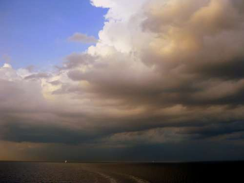 Horizon Sea Ocean Clouds Cloud Thunderstorm