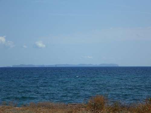 Horizon Sea Cabrera Island Land In Sight Water