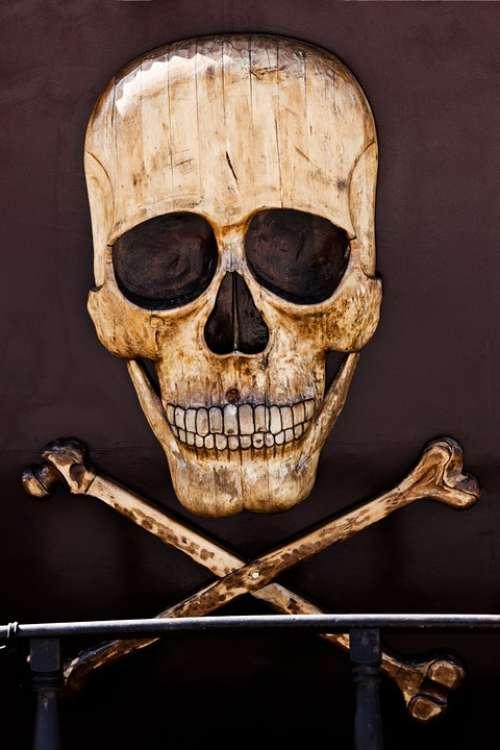 Horror Pirate Death Bone Sign Dead Skeleton Head