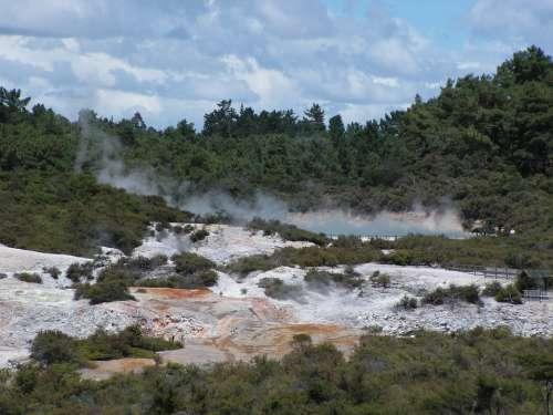 Hot Rotorua New Zealand Heat Natural Spring