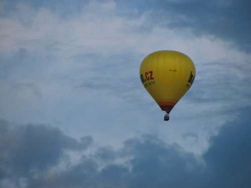 Hot Air Balloon Ride Balloon Sky Clouds Skyscape