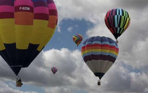 Hot Air Balloon Air Baloon Sky Clouds