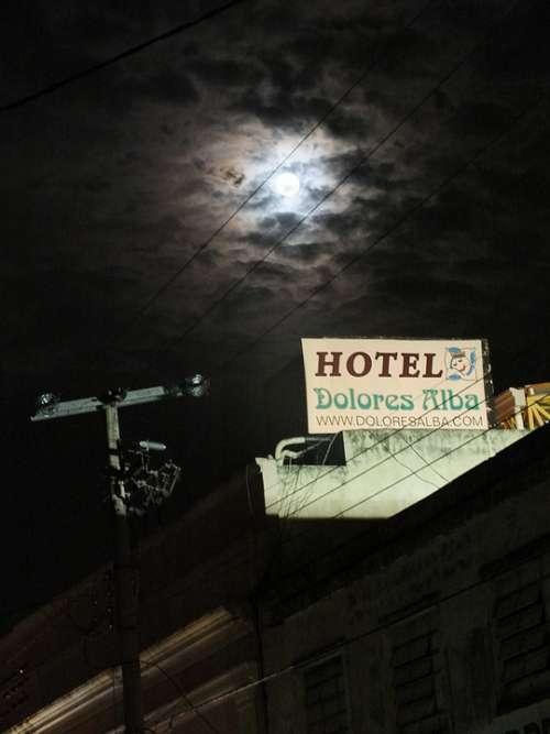 Hote Moon Lighthouse At Night Twilight