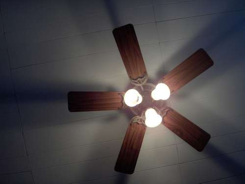 House Panel Ceiling Fan Light Lighting