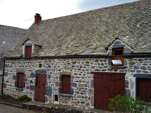 House Stones France Roof Good Looking Building