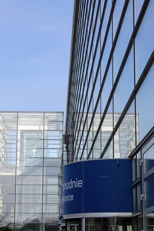 House Facade Glass Windows Poznan