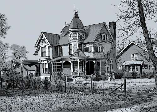 House Old Home Architecture Building Vintage