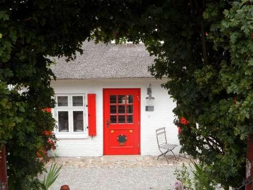 House Baltic Sea Darß Door Red Cozy Ingrowing