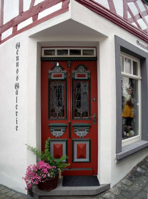 House Entrance Wood Door Painting Front Door