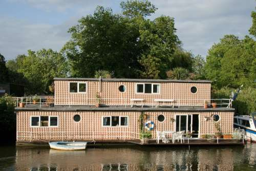 Houseboat Channel Boat