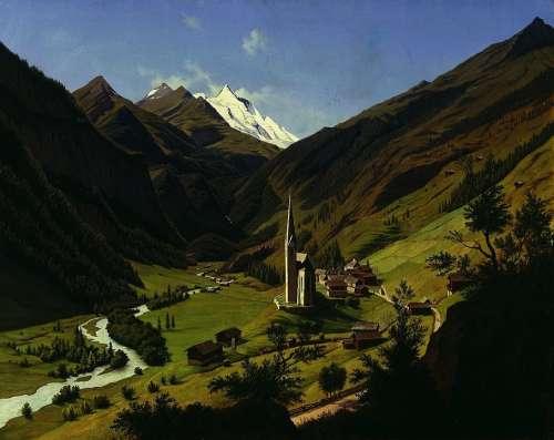 Hubert Sattler Landscape Painting Art Artistic