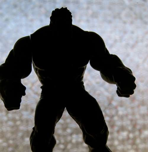 Hulk Muscles Toy Silhouette Muscular Male
