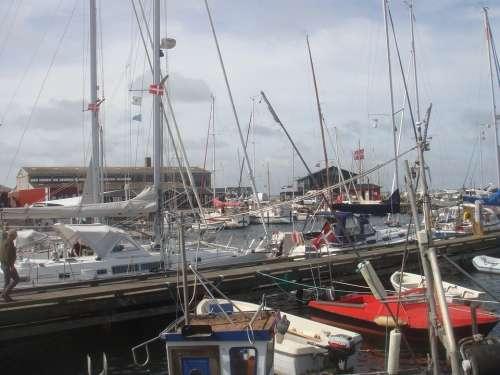 Hundested Denmark Boats Harbor Harbour Port