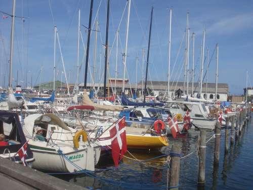 Hundested Denmark Danmark Boats Marina Harbor