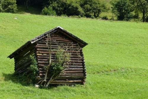 Hut Barn Heustadel Askew Mountain Meadow Scale
