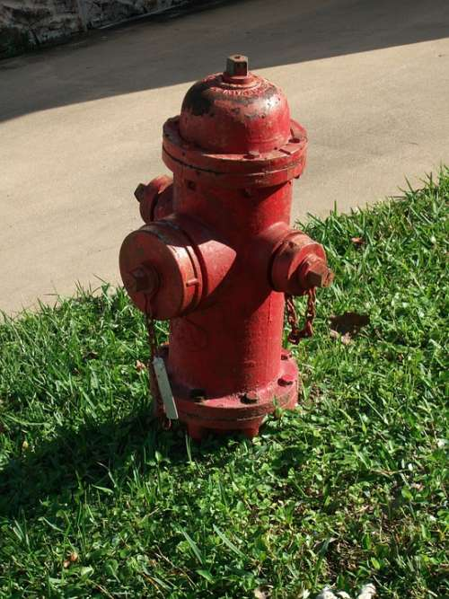 Hydrant Fire Water Supply Red Valve