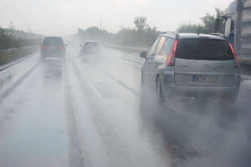 Hydroplaning Highway Germany Asphalt Driving School