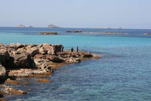 Ibiza Sea Beach Cala Comte Angler