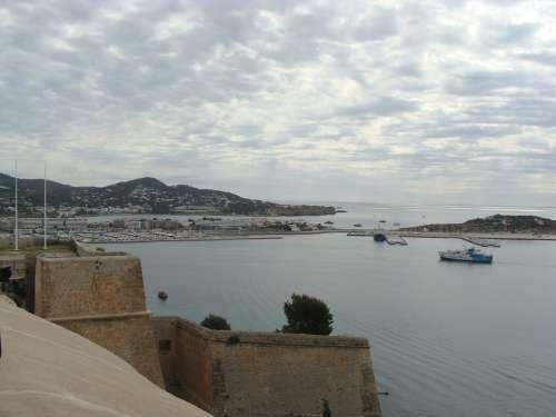 Ibiza Port On The Island Of Ibiza Spain City
