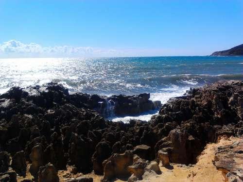 Ibiza Balearic Islands Spain Sea Rock Vacations