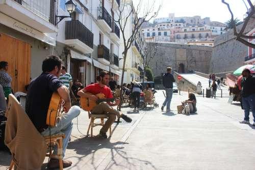 Ibiza Singing Music Street Market Guitar Flamenco