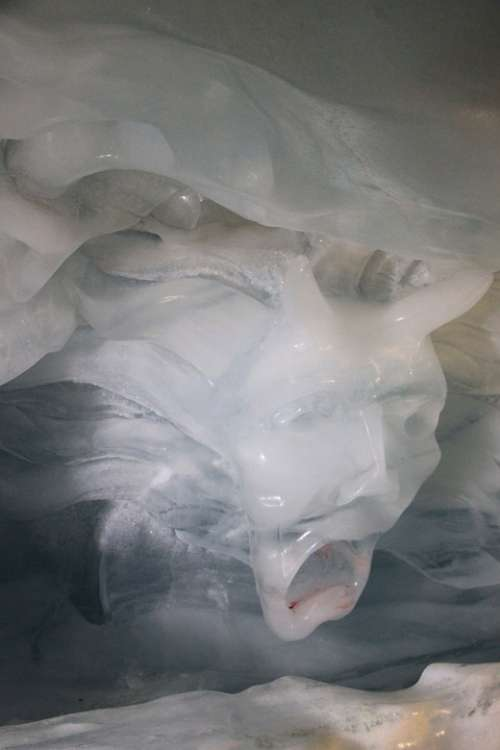 Ice Crystals Iced Devil Devils White Sculpture
