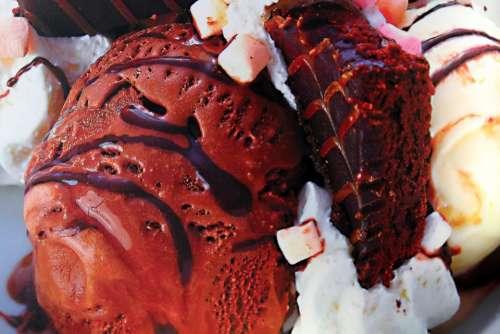 Ice Cream Rocky Road Chocolate Marshmallows Dessert