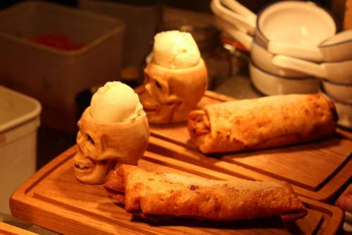 Ice Cream Dessert Mexican Restaurant Skull