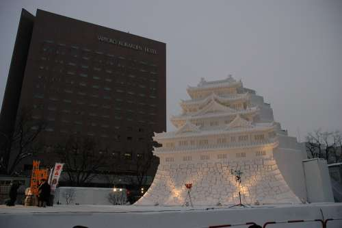 Ice Sculpture Ice Palace Japan Winter Magic Frozen